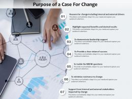Purpose Of A Case For Change