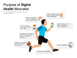 Purpose Of Digital Health Wearable