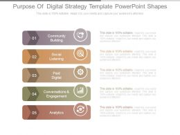 Purpose Of Digital Strategy Template Powerpoint Shapes