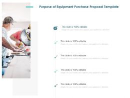 Purpose Of Equipment Purchase Proposal Template Ppt Powerpoint Aids