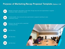 Purpose Of Marketing Recap Proposal Template R258 Ppt File Format Ideas