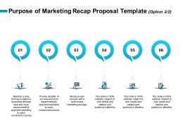Purpose Of Marketing Recap Proposal Template R259 Ppt Clipart