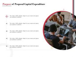Purpose Of Proposal Capital Expenditure Ppt Powerpoint Presentation Inspiration Structure