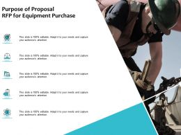 Purpose Of Proposal RFP For Equipment Purchase Ppt Powerpoint Presentation Portfolio Graphics