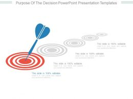 Purpose Of The Decision Powerpoint Presentation Templates