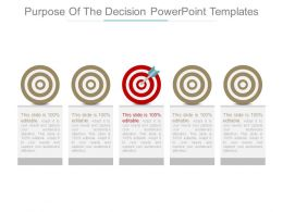 Purpose Of The Decision Powerpoint Templates