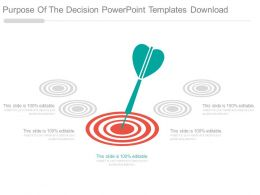 Purpose Of The Decision Powerpoint Templates Download