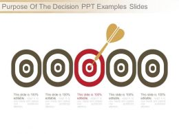 Purpose Of The Decision Ppt Examples Slides