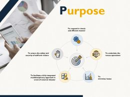 Purpose Our Goal Puzzle Ppt Powerpoint Presentation Inspiration Deck