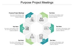 Purpose Project Meetings Ppt Powerpoint Presentation Slides Graphics Design Cpb