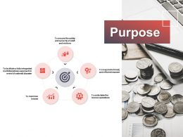 Purpose Puzzle Our Goal E143 Ppt Powerpoint Presentation Gallery Maker