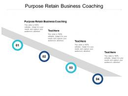 Purpose Retain Business Coaching Ppt Powerpoint Presentation Gallery Aids Cpb