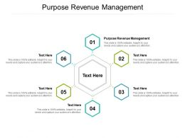 Purpose Revenue Management Ppt Powerpoint Presentation Diagrams Cpb