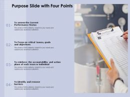 Purpose Slide With Four Points