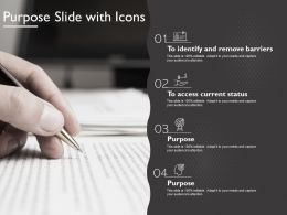 Purpose Slide With Icons
