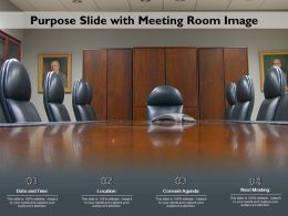 Purpose Slide With Meeting Room Image