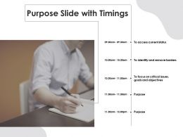 Purpose Slide With Timings