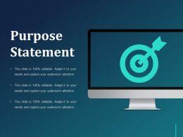 Purpose Statement Ppt Background Designs