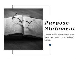 Purpose Statement Ppt Layouts