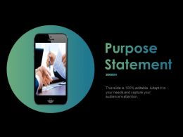 Purpose Statement Ppt Powerpoint Presentation File Pictures