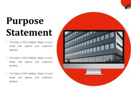 Purpose Statement Ppt Slides Information