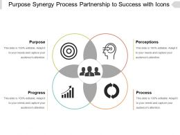 Purpose Synergy Process Partnership To Success With Icons