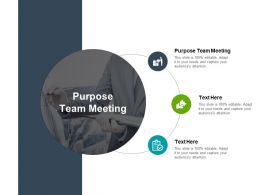 Purpose Team Meeting Ppt Powerpoint Presentation Ideas Aids Cpb