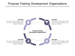 Purpose Training Development Organizations Ppt Powerpoint Presentation Infographics Graphics Cpb