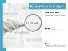 Purpose Variance Analysis Ppt Powerpoint Presentation Pictures Graphics Cpb
