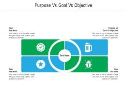 Purpose Vs Goal Vs Objective Ppt Powerpoint Presentation Infographics Format Ideas Cpb