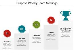 Purpose Weekly Team Meetings Ppt Powerpoint Presentation Pictures Sample Cpb