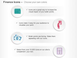 Purse Card Money Calculation Ppt Icons Graphics