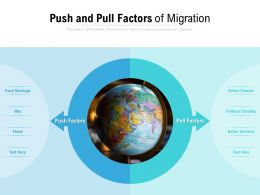 Push And Pull Factors Of Migration