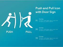 Push And Pull Icon With Door Sign