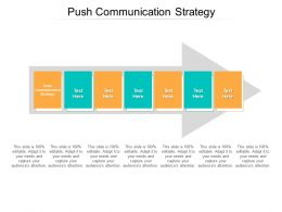 Push Communication Strategy Ppt Powerpoint Presentation Styles Example Cpb