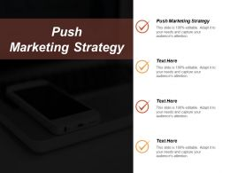 Push Marketing Strategy Ppt Powerpoint Presentation File Elements Cpb