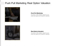 Push Pull Marketing Real Option Valuation Consumer Driven Cpb