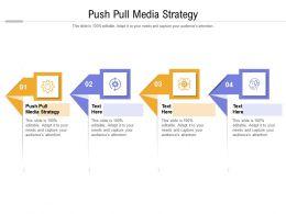 Push Pull Media Strategy Ppt Powerpoint Presentation Portfolio Professional Cpb