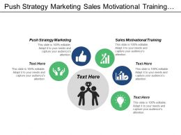 Push Strategy Marketing Sales Motivational Training Business Finance Cpb