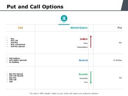 Put And Call Options Ppt Powerpoint Presentation Visual Aids Styles