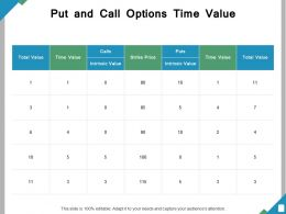 Put And Call Options Time Value Ppt Powerpoint Presentation File Tips