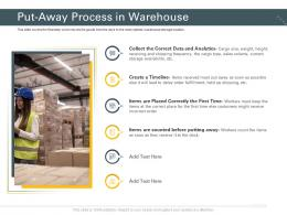 Put Away Process In Warehouse Trucking Company Ppt Slides