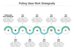 Putting Ideas Work Strategically Ppt Powerpoint Presentation Infographic Graphics Design Cpb