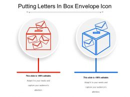 Putting Letters In Box Envelope Icon