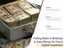 Putting Notes In Briefcase To Save Money For Future Capital Investment