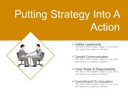 Putting Strategy Into A Action Ppt Background Designs