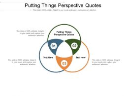 Putting Things Perspective Quotes Ppt Powerpoint Presentation Icon Background Cpb