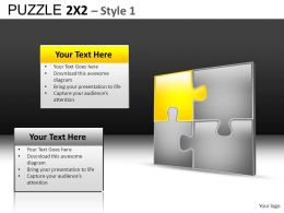 Puzzle 2x2 Style 1 Powerpoint Presentation Slides DB