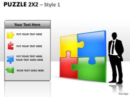 Puzzle 2x2 Style 1 PPT 03