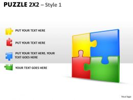Puzzle 2x2 Style 1 PPT 1